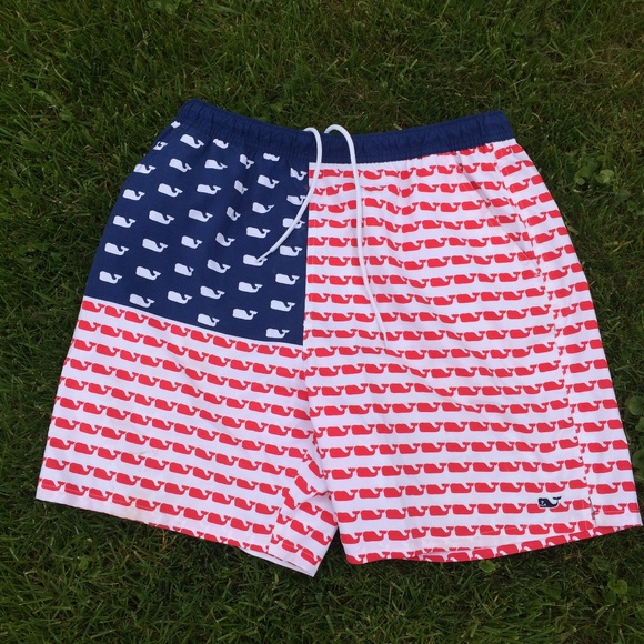 655d2a1bc7919 Vineyard Vines Swim | American Flag Whale Trunks | Poshmark